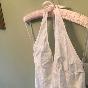 J. Crew Dresses - White Knee-Length J. Crew Halter Dress Wedding